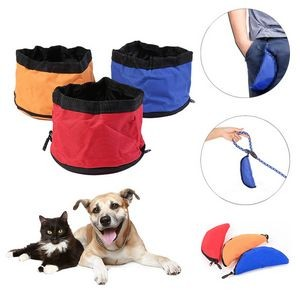 Folding Travel Pet Bowl Foldable Drinking Feeding Container