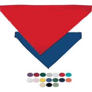Large Triangle Pet Bandana w/ Hem Opening for Collar - Blank