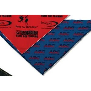 Small Printed Triangle Pet Bandana w/ Hem Opening For Collar